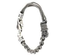 Geflochtenes Silberarmband