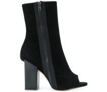 open-toe block heel boots