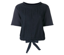 pointelle bow T-shirt