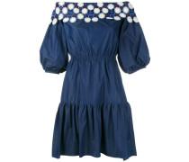 Besticktes Jeanskleid mit schulterfreiem Design