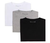 Set aus drei T-Shirts mit Logo-Print