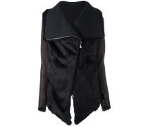 zipped fur jacket
