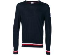 striped trim sweater