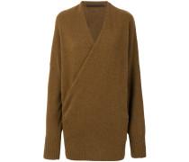 v-neck wrap front jumper