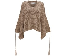 Cropped-Pullover mit Zopfmuster