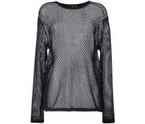 Pullover mit semi-transparenten Ärmel