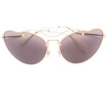 Sonnenbrille mit gewelltem Gestell