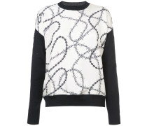 Pullover mit Kabel-Print