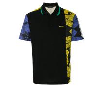 asymmetric patterned polo shirt