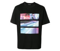 T-Shirt mit verschwommenem City-Print