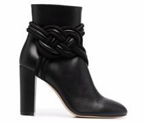 braided high-heel boots