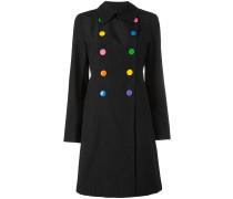 - Doppelreihiger Mantel mit ausgestellter Form