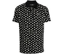 Poloshirt mit Totenkopf-Print