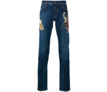 Jeans mit Jazz-Patch
