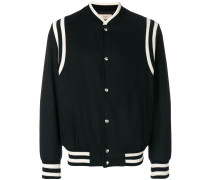 striped detail bomber jacket