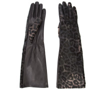 Lederhandschuhe mit Leopardenmuster