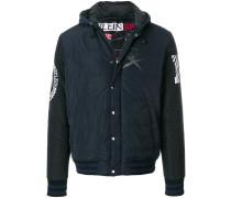 logo print padded jacket