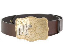 embossed buckle belt