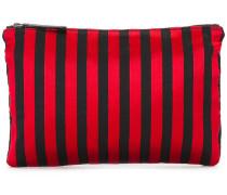 Flache Clutch mit Streifen - women - Baumwolle