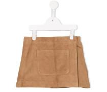 Lederrock mit aufgesetzter Tasche