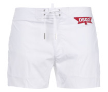 logo patch swim shorts