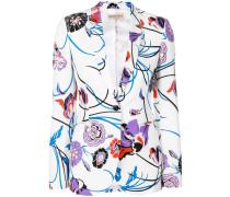 Blazer mit floralem Print