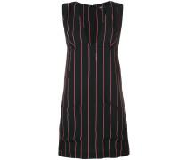 deep V-neck striped dress