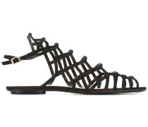Sandalen mit Gittermuster