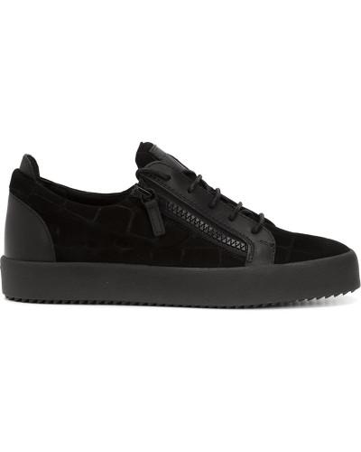 giuseppe zanotti herren sneakers mit rei verschluss reduziert. Black Bedroom Furniture Sets. Home Design Ideas