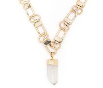 Halskette mit Kristallanhänger