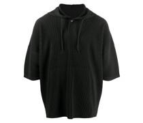 micro pleated hoodie