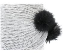 pompom tip scarf