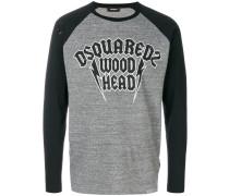 'Wood Head' Langarmshirt mit Raglanärmeln