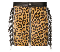 leopard-print fitted skirt
