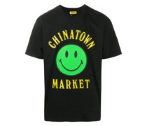 T-Shirt mit Smiley-Print