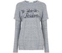 'Je deteste ' T-Shirt im Lagen-Look