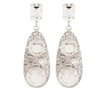 crystal-embellished hammered earrings