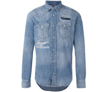 'D-Broome' Distressed-Jeanshemd