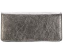 Rechteckiges Metallic-Portemonnaie