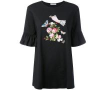 T-Shirtkleid mit Stickerei - women - Baumwolle