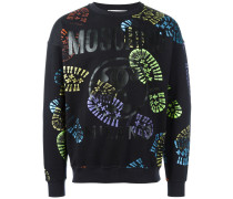Sweatshirt mit Fußspuren-Print