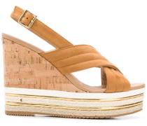 Slingback-Sandalen mit Keilabsatz