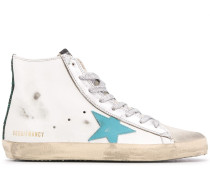 High-Top-Sneakers im Distressed-Look
