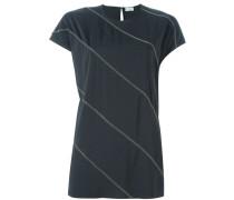 T-Shirt mit diagonalen Streifen