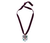 crystal pendant choker