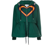 heart panelled puffer jacket