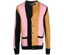 colour-block fitted cardigan