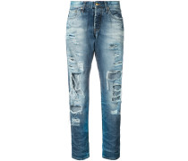 Gerade Jeans mit Distressed-Optik - women