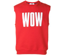 "Ärmelloses Sweatshirt mit ""Wow""-Print"