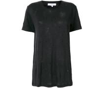 Leinen-T-Shirt in Distressed-Optik